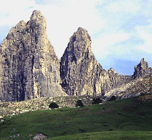 The Second (L) and First Sella Towers from the northwest