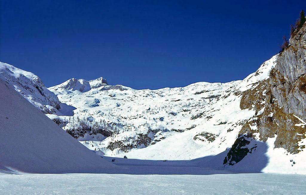 On a ski tour - Krn above its...