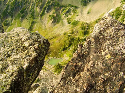 View down into Lost Basin from Lost Peak summit