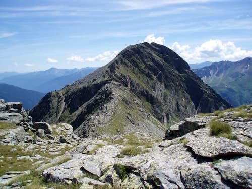 Liegelespitz from trail 138 to Mindener Hutte