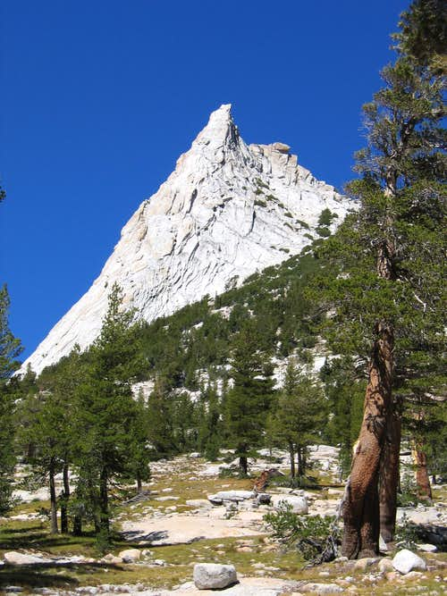 Cathedral Peak as seen from the approach