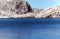 Meysan Lake Looking Mighty  Blue, Sierra Nevada, Aug. 11, 2006