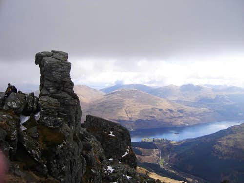 The summit of the Cobbler with Loch Long below