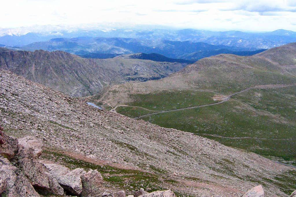 View Looking Northwest from Mt. Evans Northeast Face