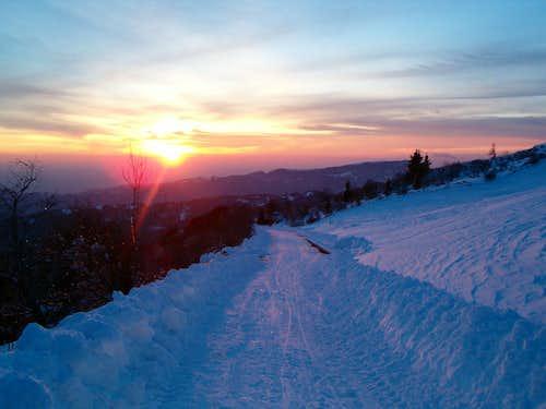 Winter scenery on Matajur