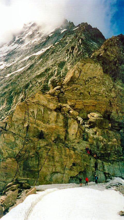 Starting point for the Hörnligrat on the Matterhorn
