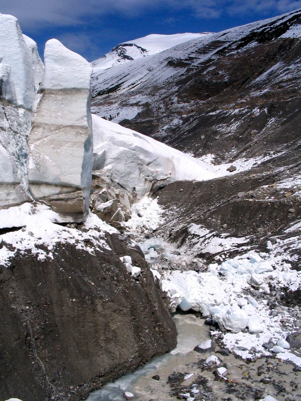 Edge of Robson glacier