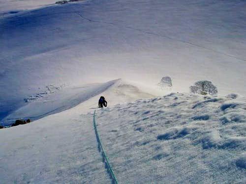 climbing the northridge, up...