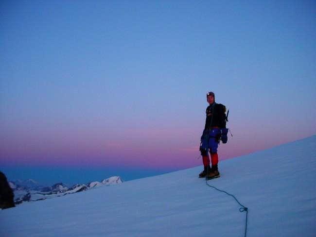 5 meters below the summit of...