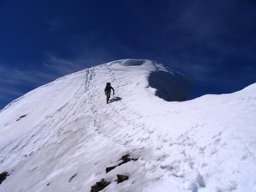 Summit dome of Edith Cavell