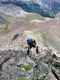 Enjoyable scrambing up NW Ridge