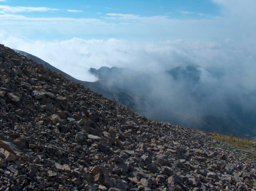 Clouds on the ridge