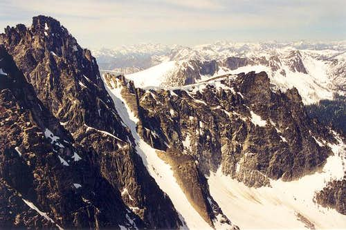 A view of the northern cirque...