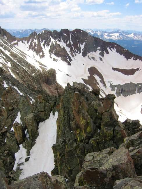 crux of ridge on kilpacker...
