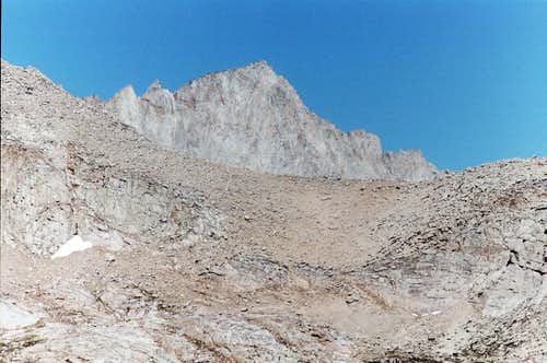 Mt. Whitney as seen from Plateau Southeast of Lone Pine Peak