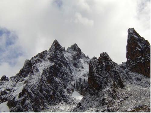 View of the Mt Kenya's South...