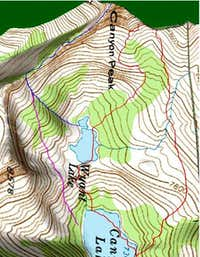 3D Topo of Summit Attempt