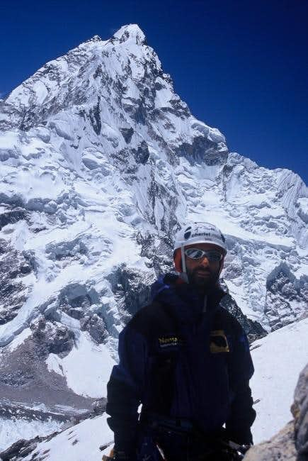 Nuptse in background seen for...