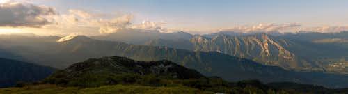 The whole ridge of Kobariski Stol