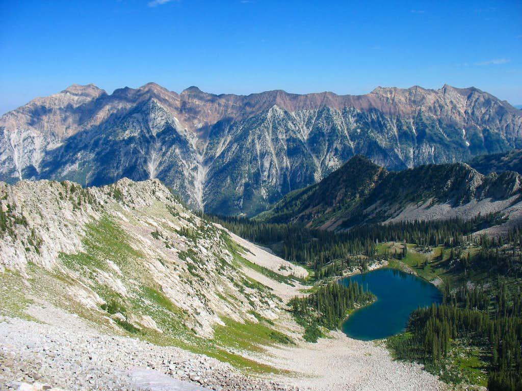 Cottonwood Ridge from above Red Pine Lake