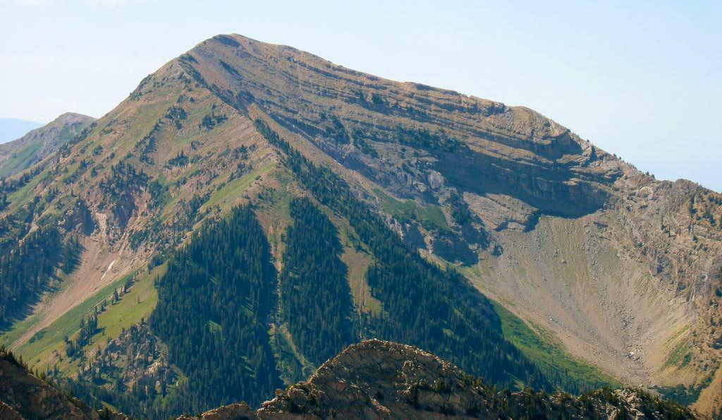 Box Elder Peak from east ridge
