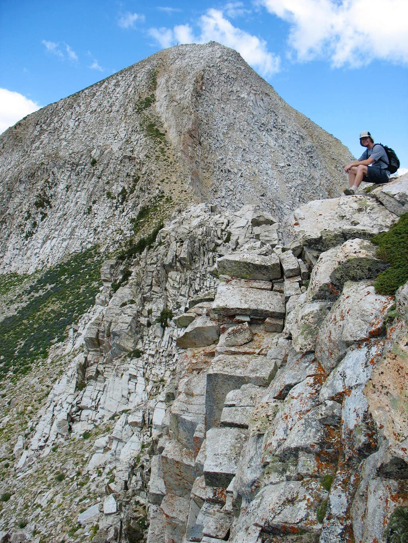 Scrambling on the east ridge