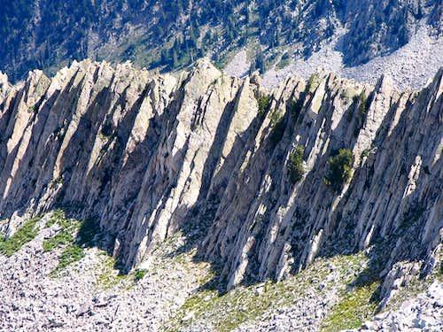 Jagged northeast ridge