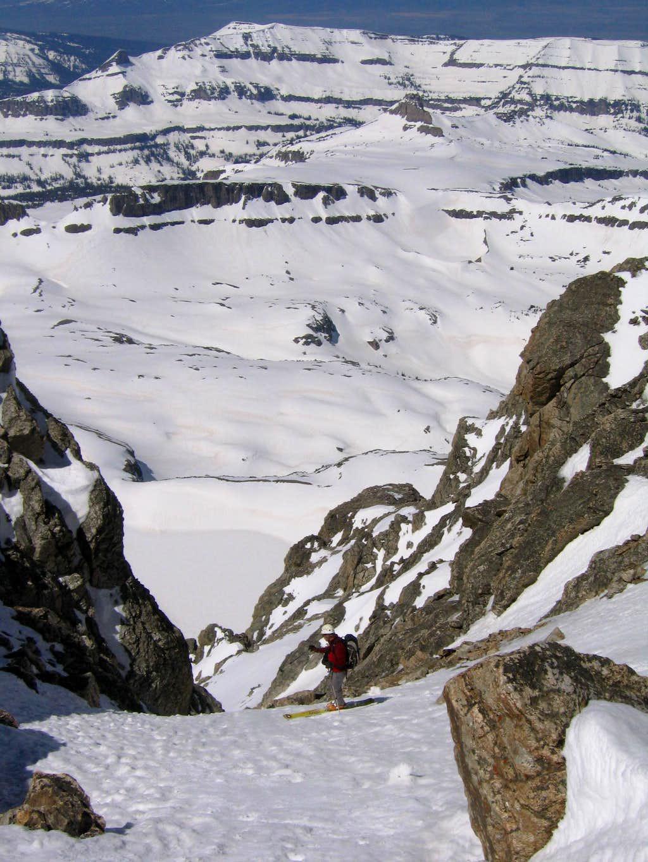 SW Couloir descent