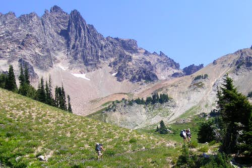 Cispus Basin and West Route of Goat Rocks