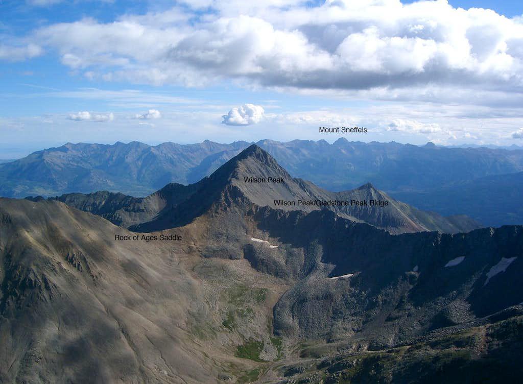 Wilson Peak from El Diente