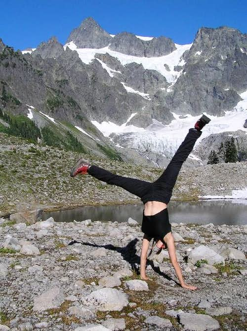No room for a cartwheel on the summit