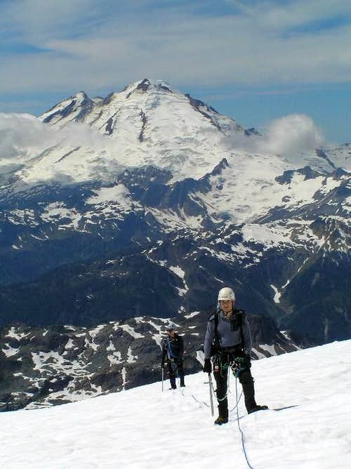 Mike & Chris on Sulphide Slog with Mt. Baker