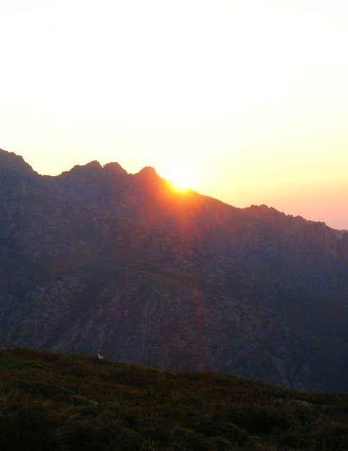 Sunset over Lozzi, Corsica