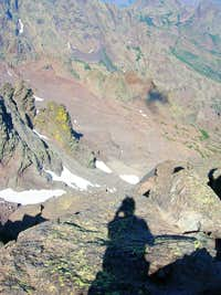 Shadow on the north wall of Monte Cinto