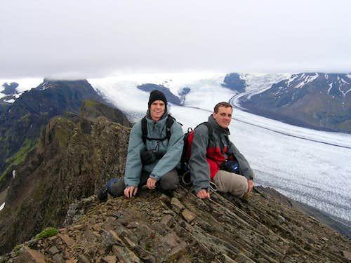 On the summit, 1126 m
