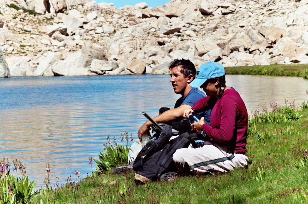 Taking a Break by Meysan Lake, Sierra Nevada, Aug. 11, 2006