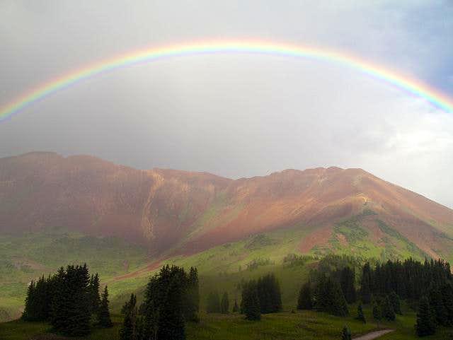 Rainbow over Mount Baldy