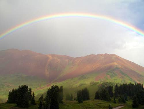Rainbow over Mount Baldy