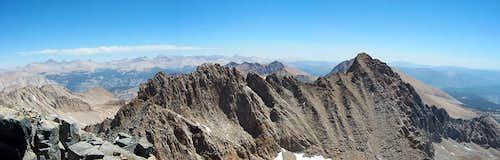 Kaweah Range and Sierra Crest from Black Kaweah