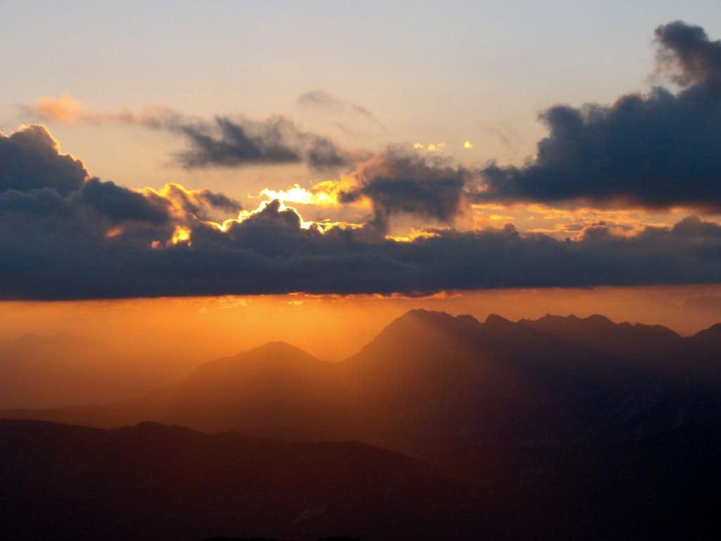 Quarnan and Chiampon in the last sun light
