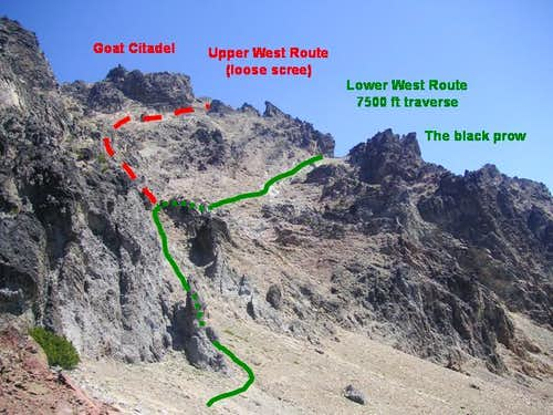 First half of the Gilbert west routes from 6800 ft saddle