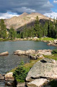 Red Peak from Gore Lake