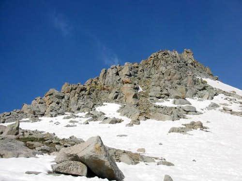east spur of northeast ridge...