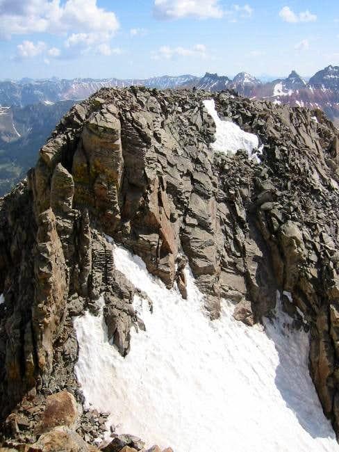 lower san miguel peak summit...