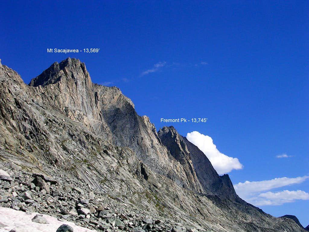 Mt Sacajawea and Fremont Peak