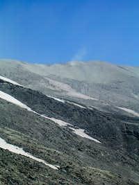 a dust devil near the summit