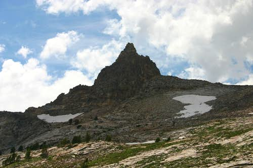 Snow Lake Peak with Approaching Thunderstorms