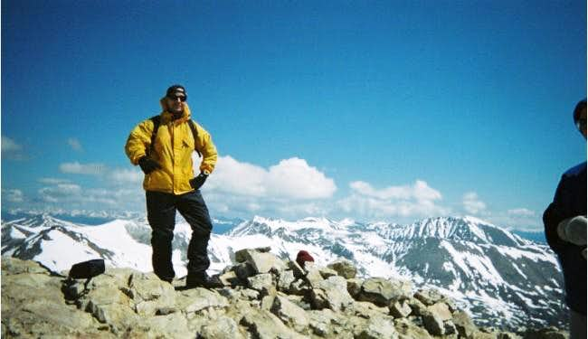 At the summit of Mount...