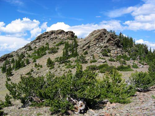 Rocky summit of Chief Mountain