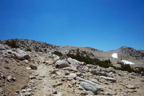 Final gravel ridge up toward...